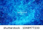 geometric polygonal background... | Shutterstock .eps vector #1048977233