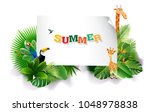 jungle or zoo themed animal... | Shutterstock .eps vector #1048978838
