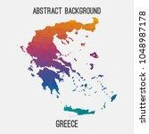greece map in geometric... | Shutterstock .eps vector #1048987178