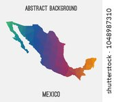 mexico map in geometric... | Shutterstock .eps vector #1048987310