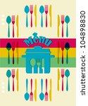 menu card  design.   Shutterstock .eps vector #104898830