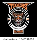 vector tiger illustration for t ... | Shutterstock .eps vector #1048990556