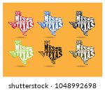 don't mess with texas... | Shutterstock .eps vector #1048992698