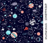 space galaxy constellation... | Shutterstock .eps vector #1048994369