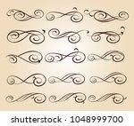 set design elements. vector... | Shutterstock .eps vector #1048999700
