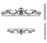 vintage vector swirl frame | Shutterstock .eps vector #1049000840