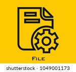 file vector icon