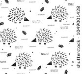 seamless pattern with cute... | Shutterstock .eps vector #1049001428