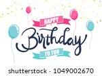 happy birthday to you. design...   Shutterstock .eps vector #1049002670