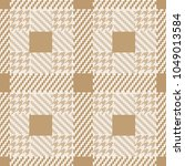 check fashion tweed beige nude... | Shutterstock .eps vector #1049013584