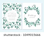 wedding invitation  thank you... | Shutterstock .eps vector #1049015666