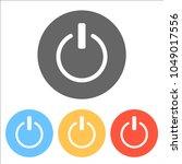 shut down  power. set of white... | Shutterstock .eps vector #1049017556
