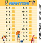 addition worksheet with... | Shutterstock .eps vector #1049018804