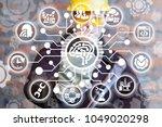 industrial manufacturer... | Shutterstock . vector #1049020298