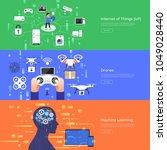 flat design concept internet of ... | Shutterstock .eps vector #1049028440