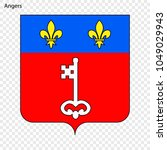 emblem of angers. city of... | Shutterstock .eps vector #1049029943
