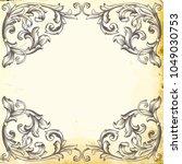 retro baroque decorations...   Shutterstock .eps vector #1049030753