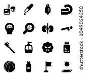solid vector icon set  ... | Shutterstock .eps vector #1049034350
