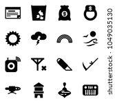 solid vector icon set  ...   Shutterstock .eps vector #1049035130