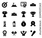 solid vector icon set   target... | Shutterstock .eps vector #1049035163
