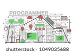 programmer concept vector... | Shutterstock .eps vector #1049035688
