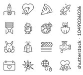 thin line icon set   super... | Shutterstock .eps vector #1049036036