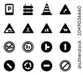 solid vector icon set   parking ... | Shutterstock .eps vector #1049036660