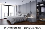 modern  bedrooms and  dressing... | Shutterstock . vector #1049037803