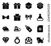 Solid Vector Icon Set   Gift...