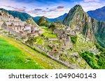 machu picchu in peru   ruins of ...   Shutterstock . vector #1049040143