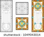 abstract glass panels geometric ... | Shutterstock .eps vector #1049043014