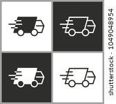 fast delivery   black and white ...   Shutterstock .eps vector #1049048954