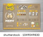 vintage beer menu design on... | Shutterstock .eps vector #1049049830