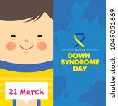 21 march   world down syndrome... | Shutterstock .eps vector #1049051669