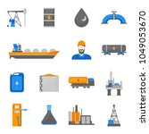 cartoon oil petroleum... | Shutterstock .eps vector #1049053670
