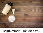 protein powder for fitness... | Shutterstock . vector #1049056598