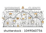 working with clients concept... | Shutterstock .eps vector #1049060756