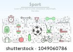 sport advertising vector... | Shutterstock .eps vector #1049060786