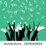 money money falling from the... | Shutterstock .eps vector #1049060834