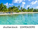 belize cayes   small tropical... | Shutterstock . vector #1049063090