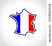 illustration of french map icon ... | Shutterstock .eps vector #1049069318