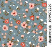 trendy seamless floral  pattern.... | Shutterstock .eps vector #1049071220