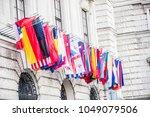 international  flags in the... | Shutterstock . vector #1049079506