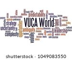 vuca world word cloud concept... | Shutterstock . vector #1049083550