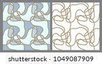 vector  seamless pattern of... | Shutterstock .eps vector #1049087909