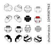 set of collection modern vector.... | Shutterstock .eps vector #1049087963