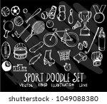 set of vector doodle drawing... | Shutterstock .eps vector #1049088380