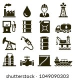oil industry icons. vector... | Shutterstock .eps vector #1049090303