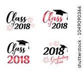 class of 2018 card vector... | Shutterstock .eps vector #1049090366