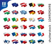 flags of the european union | Shutterstock .eps vector #1049090498